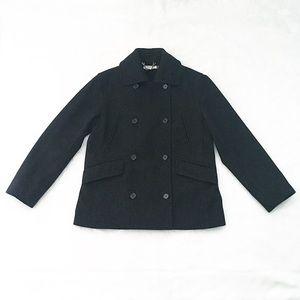 Like New Charcoal Gray J. Crew Wool Peacoat